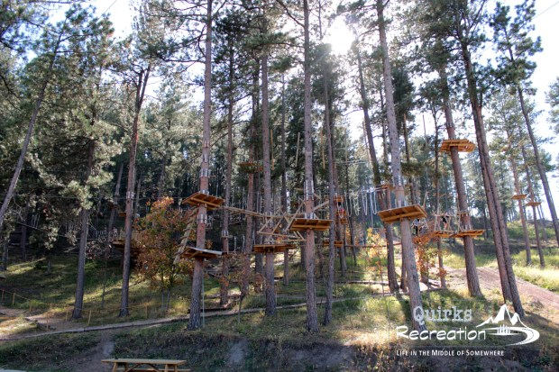 Full view of Rushmore Tramway Adventures Aerial Park