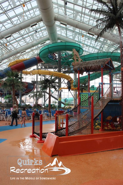 View of WaTiki Waterpark slides