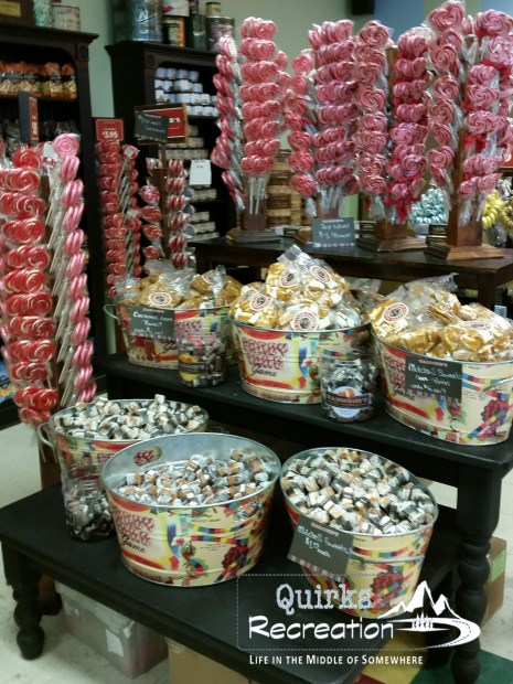Candy display at Hammond's Candies