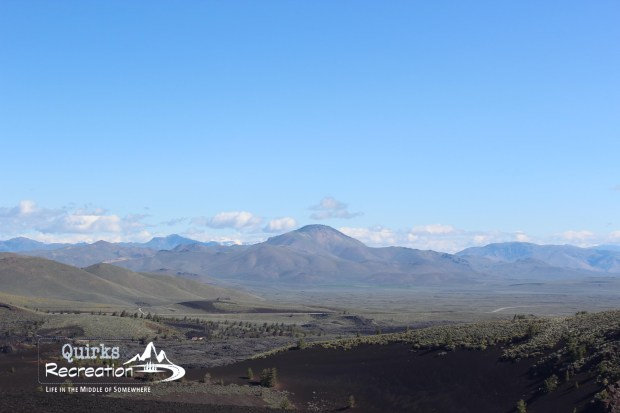 panoramic view from Inferno Cone at Craters of the Moon