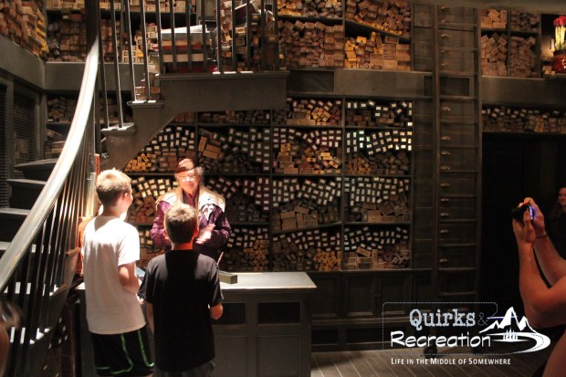 Wand choosing ceremony at Ollivanders - Islands of Adventure, Universal Orlando