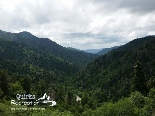 Overlook view of Great Smoky Mountains National Park