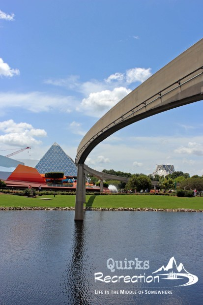Monorail line at Epcot in Walt Disney World