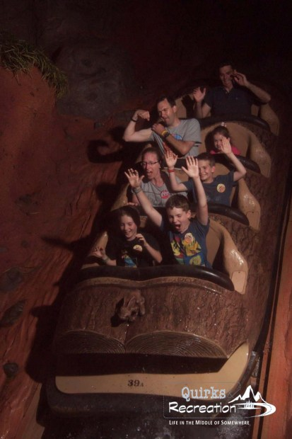 family riding Splash Mountain Disney World Magic Kingdom