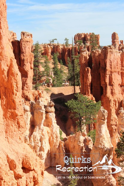 Hoodoos on Peekaboo Loop Trail in Bryce Canyon National Park
