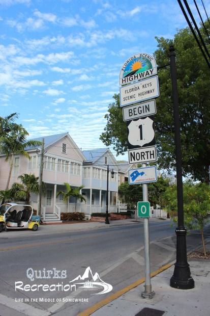 start of US Highway 1 in Key West, Florida