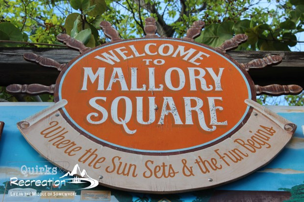 Sign in Mallory Square Key West, Florida