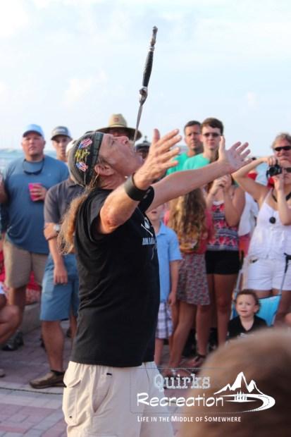 sword swallower street performer Key West, Florida