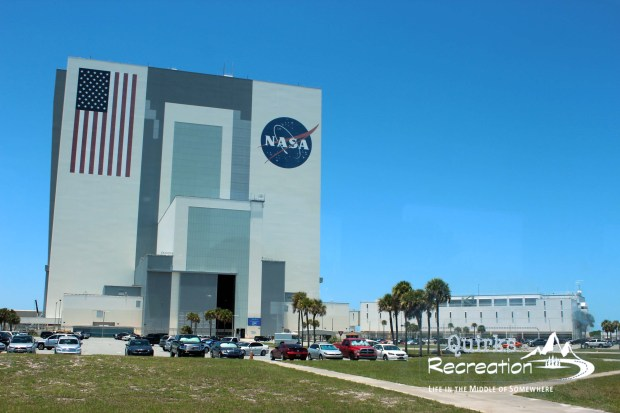 iconic NASA building Kennedy Space Center