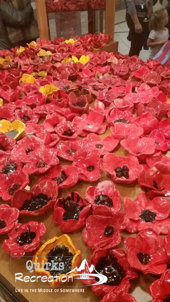 ceramic poppies for Wyoming Poppy Project