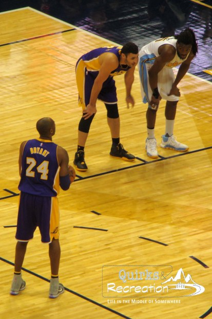 Kobe Bryant shooting free throw