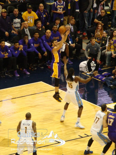 Larry Nance Jr. shooting vs. Nuggets