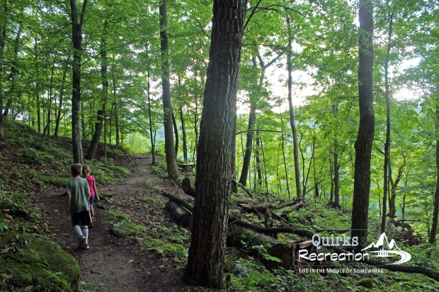 two children hiking a trail at Mammoth Cave National Park