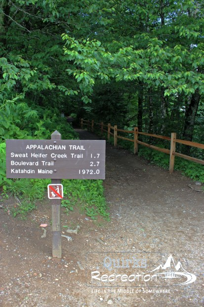 Appalachian Trail sign in Great Smoky Mountains