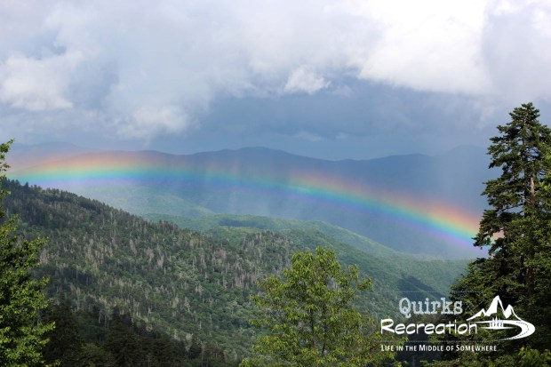 raindbow view in Great Smoky Mountains National Park