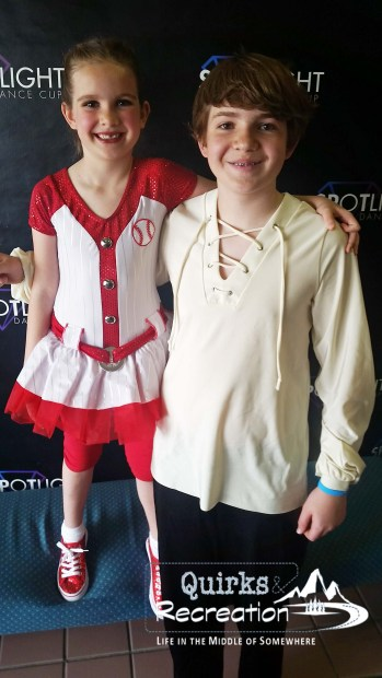 Brother and sister at Spotlight Dance Cup