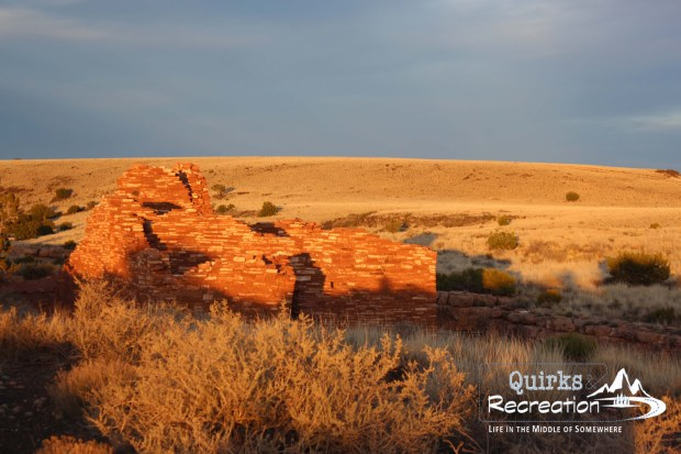 sunset on a Wupatki ruin