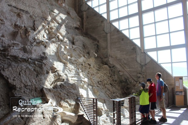 Inside Quarry Exhibit Hall at Dinosaur National Monument