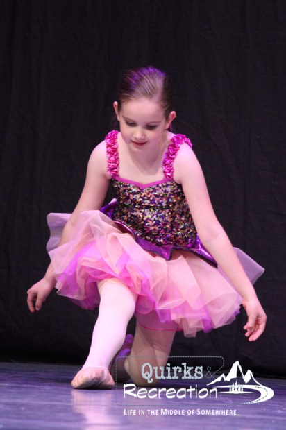 girl performing in a ballet recital