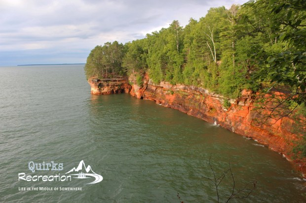 red cliffs of Apostle Islands National Seashore