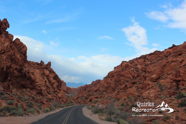road into valley of fire state park