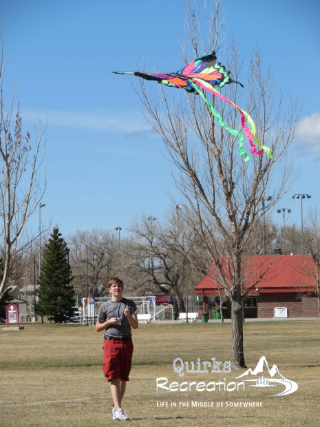 Teen flying a kite - joy in a staycation