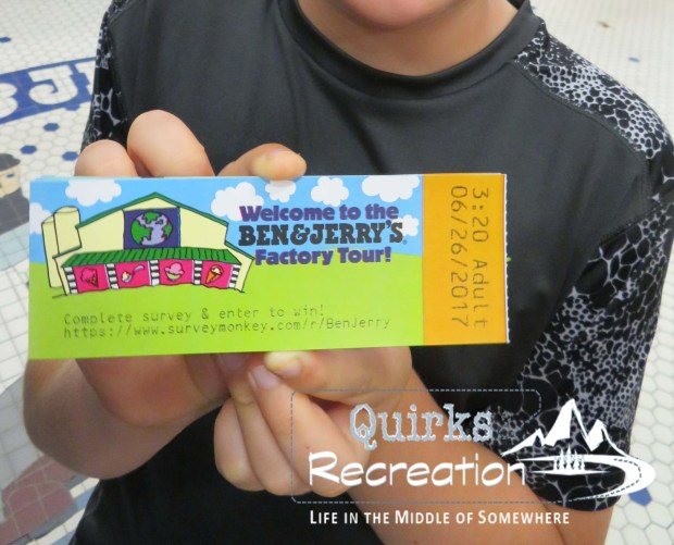 Ben & Jerry's factory tour ticket