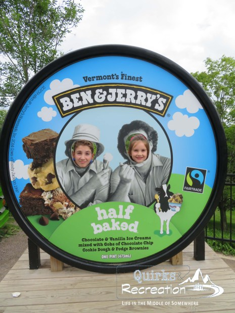 Ben & Jerry's photo op