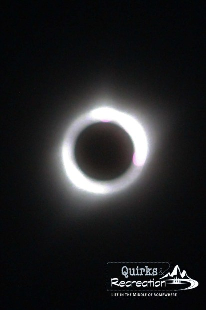 Attempt at photographing totality during 2017 total solar eclipse