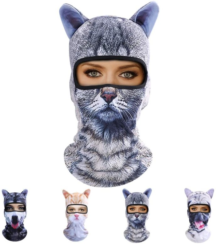 full face quirky cat masks