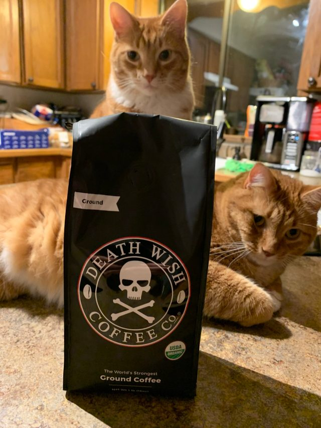 death wish coffee and cats