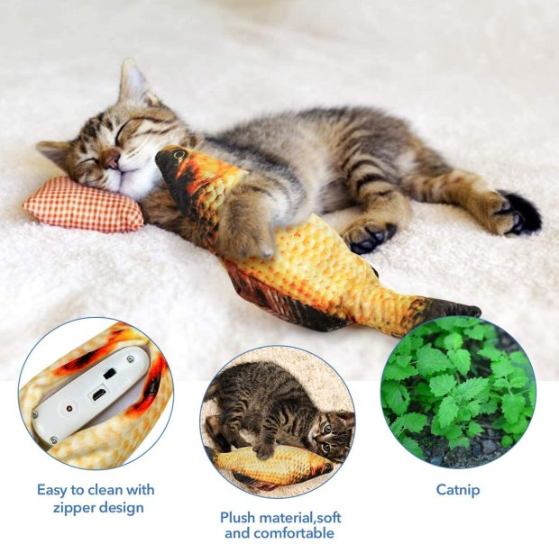 new fish quirky cat toy