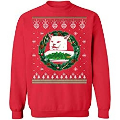 cat meme ugly christmas sweater