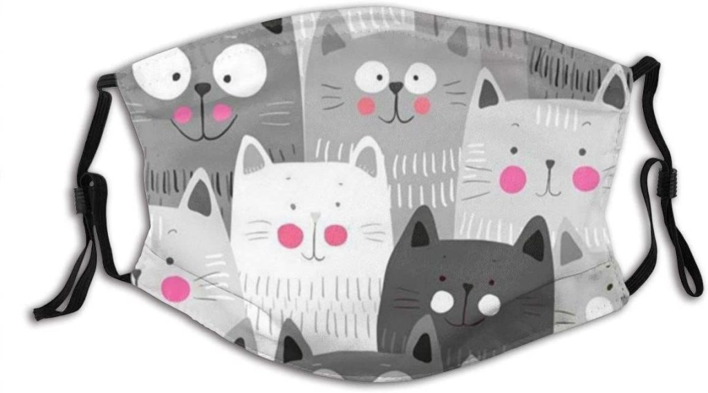 group of cats face mask adjustable straps