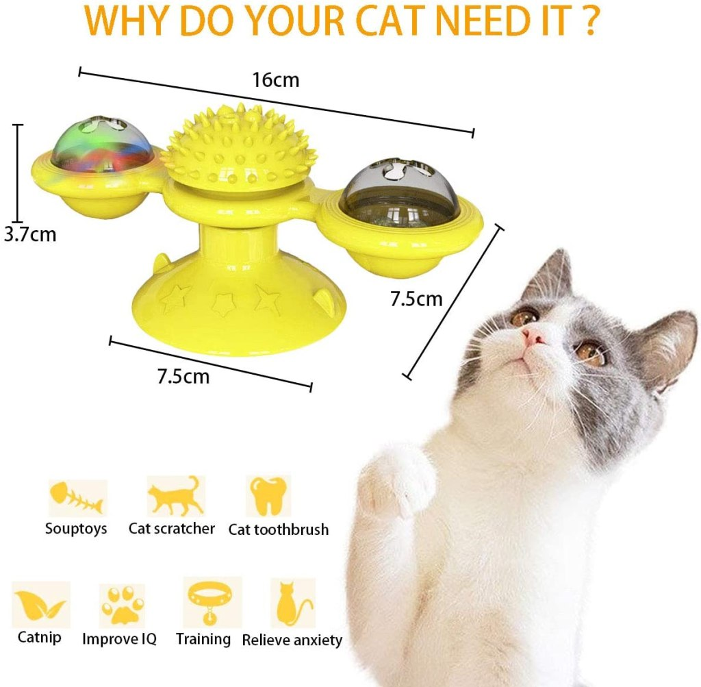 highlights of spinning cat toy