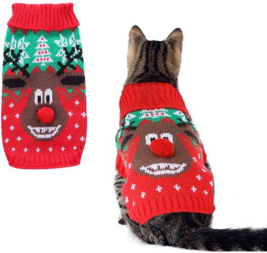 Ugly Christmas Sweater for your cat