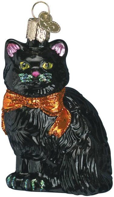 black cat ornament for tree