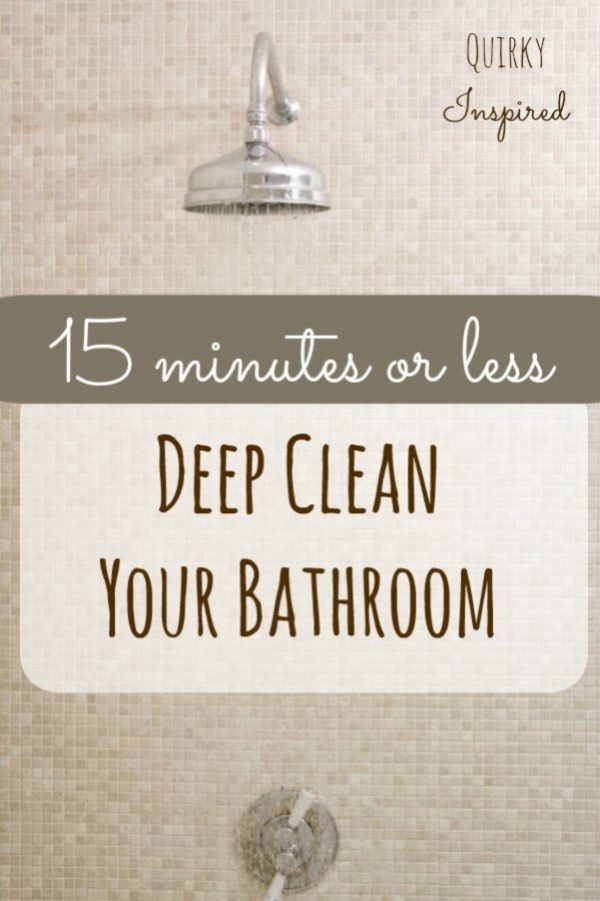 Deep Clean Your Bathroom