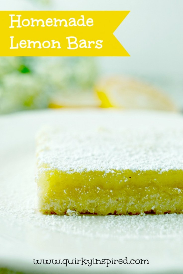 These homemade lemon bars are amazing, and super easy