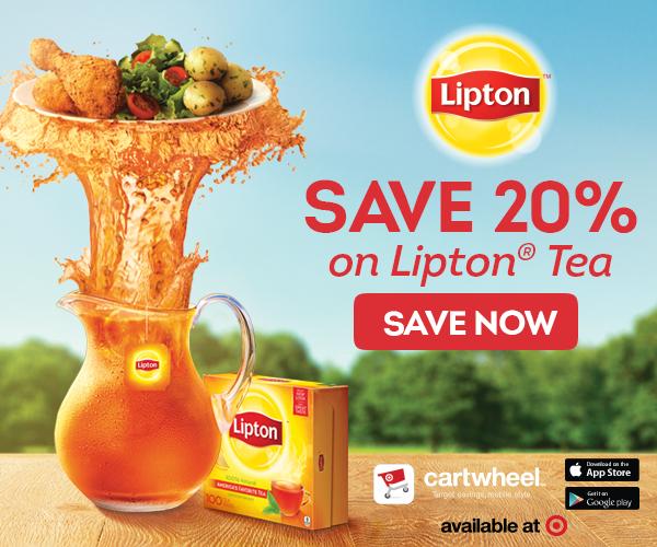 Click here to get a Lipton Tea coupon for your Target Cartwheel
