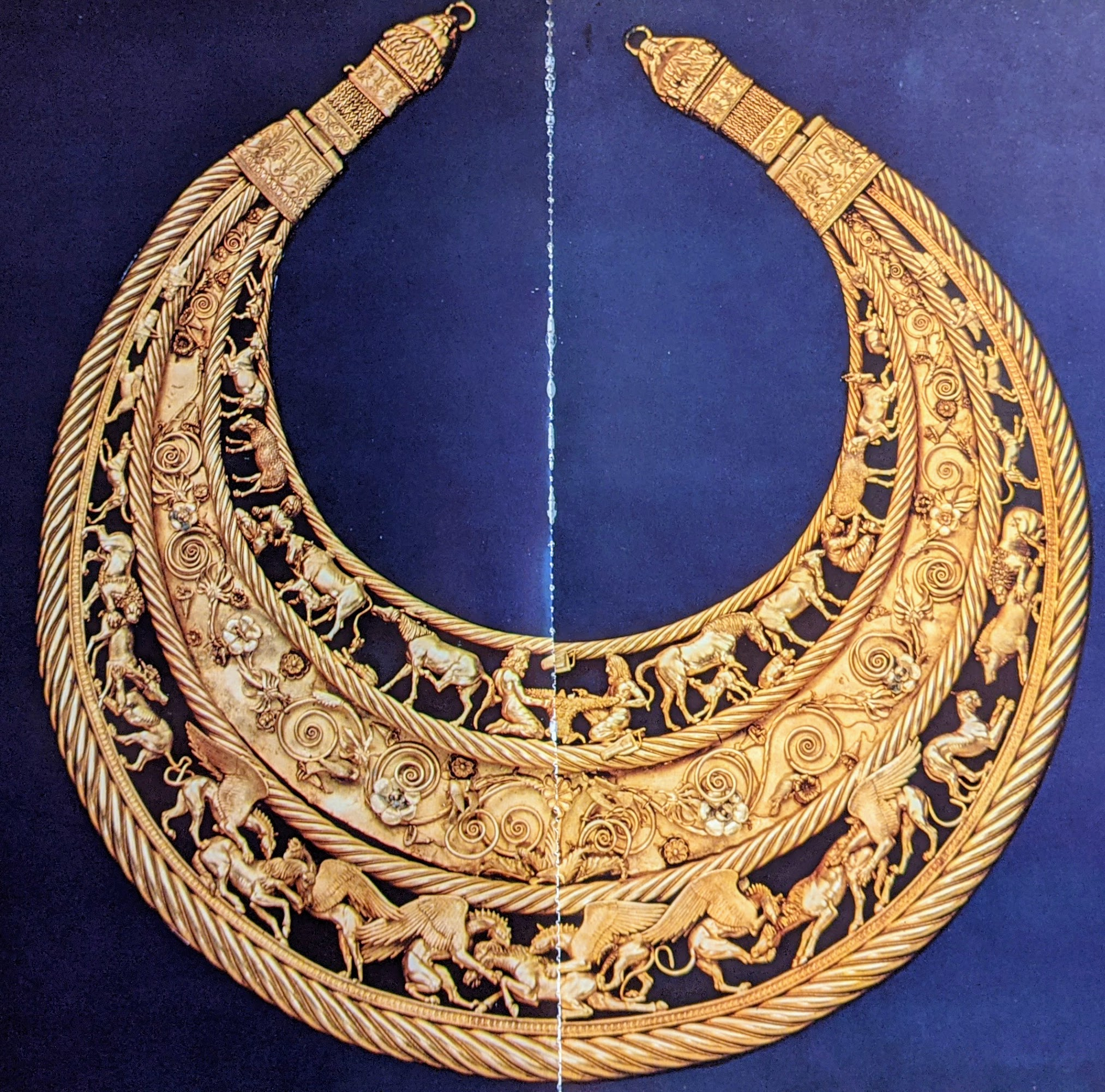Gold Pectoral with scenes of scythian life