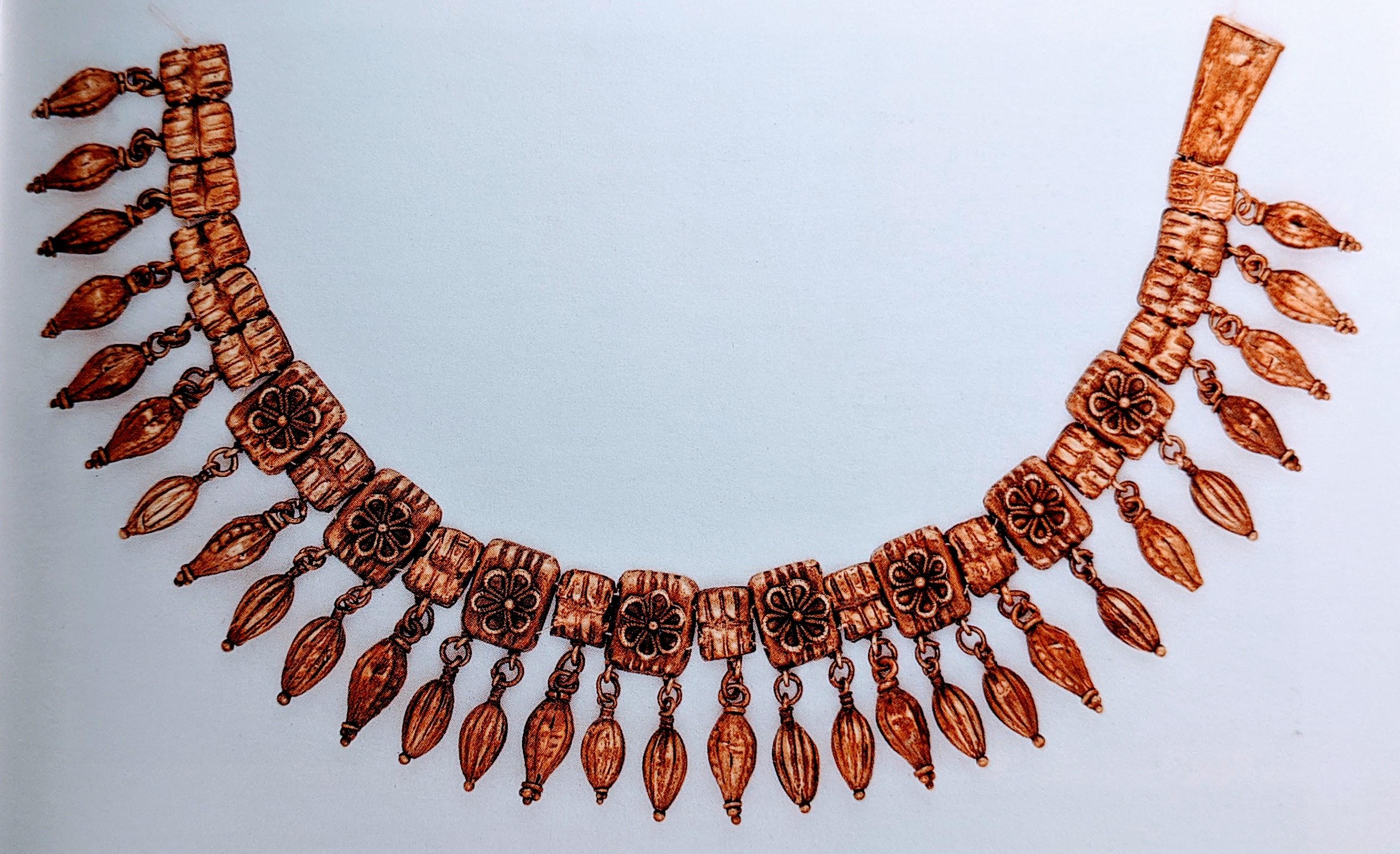 Electrum necklace