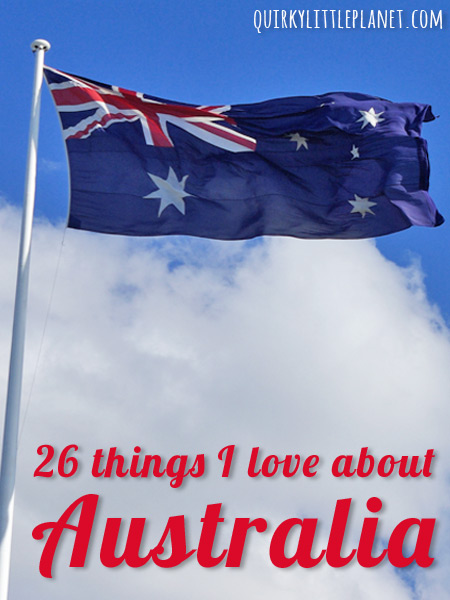 26 things I love about Australia