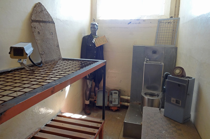 Prison artifacts at The Jailhouse, New Zealand