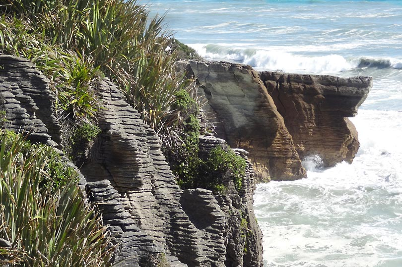 Pancake rock formation in Punakaiki