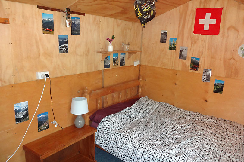 Stay inside a shed at this hostel!