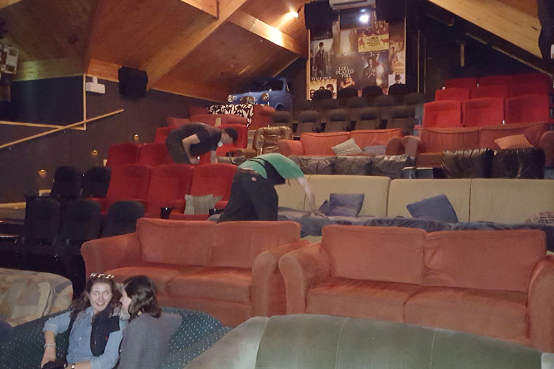 Inside Cinema Paradiso in Wanaka