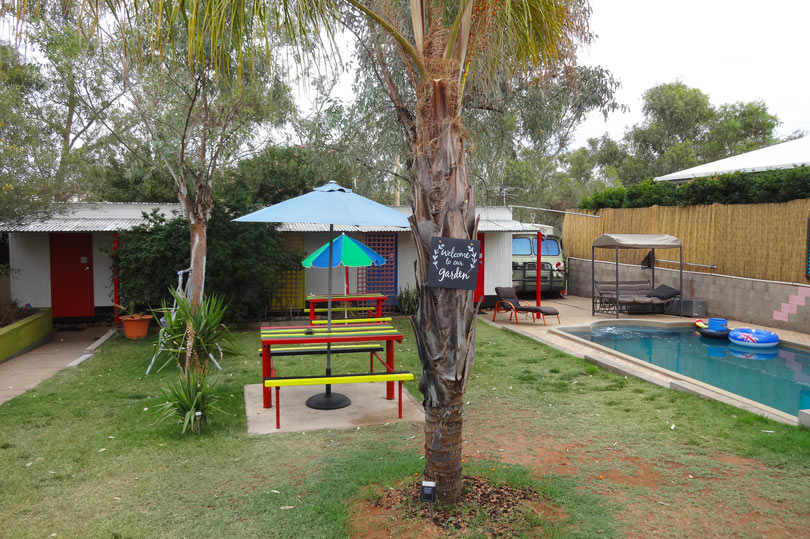 quirky hostel in Australia - Alice's Secret Travellers Inn