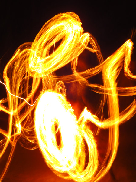 Streaks of light, swirls of fire - fire dancing in Fiji