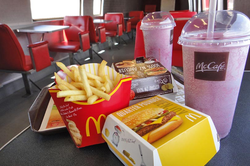 McDonalds in Taupo New Zealand - you can dine in an aeroplane!